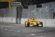 Ryan Hunter-Reay prepares for Turn 3 during practice for the Chevrolet Dual In Detroit -- Photo by: Joe Skibinski