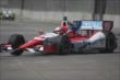 Justin Wilson enters Turn 3 during practice for the Chevrolet Dual In Detroit -- Photo by: Joe Skibinski