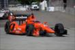 Simon Pagenaud on course during practice for the Chevrolet Dual in Detroit -- Photo by: Joe Skibinski