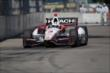 Helio Castroneves on course during practice for the Chevrolet Dual in Detroit -- Photo by: Joe Skibinski
