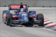 Graham Rahal on course during practice for the Chevrolet Dual in Detroit -- Photo by: Joe Skibinski