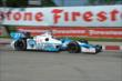 James Hinchcliffe apexes Turn 5 during Race 1 of the Chevrolet Indy Dual in Detroit -- Photo by: Chris Owens
