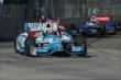 James Hinchcliffe leads Scott Dixon and Ryan Briscoe during Race 1 of the Chevrolet Indy Dual in Detroit -- Photo by: Chris Owens