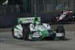 Carlos Munoz leads Will Power into Turn 5 during Race 1 of the Chevrolet Indy Dual in Detroit -- Photo by: Chris Owens