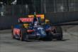 Graham Rahal leads Ryan Hunter-Reay into Turn 5 during Race 1 of the Chevrolet Indy Dual in Detroit -- Photo by: Chris Owens