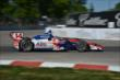 Takuma Sato begins his Turn 3 exit during Race 1 of the Chevrolet Indy Dual in Detroit -- Photo by: Chris Owens