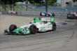 Carlos Munoz exits Turn 7 during Race 1 of the Chevrolet Indy Dual in Detroit -- Photo by: Joe Skibinski