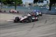 Will Power leads Mikhail Aleshin into Turn 7 during Race 1 of the Chevrolet Indy Dual in Detroit -- Photo by: Joe Skibinski
