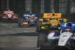 Mikhail Aleshin leads Ryan Hunter-Reay, Charlie Kimball, and Juan Pablo Montoya down the Belle Isle backstretch. -- Photo by: Joe Skibinski