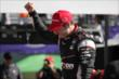 Will Power celebrates his victory in Race 1 of the Chevrolet Indy Dual in Detroit -- Photo by: Joe Skibinski