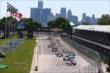 Takuma Sato leads the field into Turn 1 at the start of Race 2 of the Chevrolet Indy Dual in Detroit -- Photo by: Chris Jones
