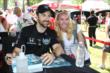 James Hinchcliffe poses for a photo during the INDYCAR Fan Village autograph session -- Photo by: Chris Jones