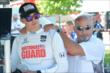 Graham Rahal on pit lane with father/owner Bobby Rahal prior to qualifications for Race 2 of the Chevrolet Indy Dual in Detroit -- Photo by: Chris Owens