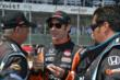 Simon Pagenaud chats with his crew members prior to Race 2 of the Chevrolet Indy Dual in Detroit -- Photo by: Chris Owens