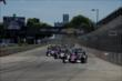 Takuma Sato leads the field at the start of Race 2 of the Chevrolet Indy Dual in Detroit -- Photo by: Chris Owens