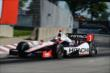 Helio Castroneves enters Turn 13 during Race 2 of the Chevrolet Indy Dual in Detroit -- Photo by: Chris Owens