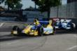 Marco Andretti leads Carlos Huertas through Turn 13 during Race 2 of the Chevrolet Indy Dual in Detroit -- Photo by: Chris Owens