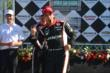 Helio Castroneves celebrates after his victory in Race 2 of the Chevrolet Indy Dual in Detroit -- Photo by: Chris Owens