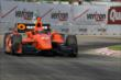 Simon Pagenaud on course during qualifications for Race 2 of the Chevrolet Indy Dual in Detroit -- Photo by: Joe Skibinski