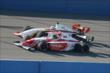 Zach Veach and Gabby Chaves go side-by-side during practice at Auto Club Speedway -- Photo by: Chris Owens