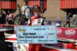 Zach Veach wins the pole for the Lefty's Kids Club 100 at Auto Club Speedway -- Photo by: Chris Owens