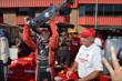 Sage Karam lifts the 2013 Championship Trophy for Firestone Indy Lights -- Photo by: John Cote