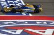 Marco Andretti crosses the start/finish line during the Open Test at Auto Club Speedway -- Photo by: Chris Jones