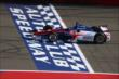 Takuma Sato crosses the start/finish line during the Open Test at Auto Club Speedway -- Photo by: Chris Jones