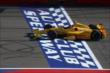 Ryan Hunter-Reay crosses the start/finish line during the Open Test at Auto Club Speedway -- Photo by: Chris Jones