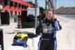 Sarah Fisher prepares to give two-seater rides at Auto Club Speedway -- Photo by: Chris Jones
