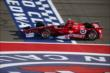 Scott Dixon crosses the start/finish line during the Open Test at Auto Club Speedway -- Photo by: Chris Jones