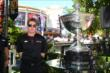 Will Power poses with the Astor Cup at The Grove LA -- Photo by: Chris Jones