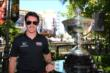 Simon Pagenaud poses with the Astor Cup at The Grove LA -- Photo by: Chris Jones