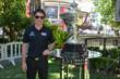 Simon Pagenaud poses with the Astor Cup at The Grove in Los Angeles, CA -- Photo by: Chris Owens