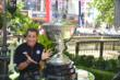 Helio Castroneves poses with the Astor Cup at The Grove in Los Angeles, CA -- Photo by: Chris Owens