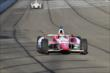 Justin Wilson enters Turn 3 during the Open Test at Auto Club Speedway -- Photo by: Joe Skibinski