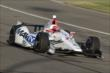 Simon Pagenaud enters Turn 3 during the Open Test at Auto Club Speedway -- Photo by: Joe Skibinski
