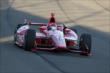Tony Kanaan enters Turn 3 during the Open Test at Auto Club Speedway -- Photo by: Joe Skibinski