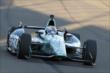 Graham Rahal enters Turn 3 during the Open Test at Auto Club Speedway -- Photo by: Joe Skibinski