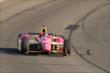 Sebastian Saavedra enters Turn 3 during the Open Test at Auto Club Speedway -- Photo by: Joe Skibinski