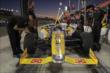 Marco Andretti waits on pit lane prior to the evening Open Test session at Auto Club Speedway -- Photo by: Joe Skibinski