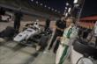 Ed Carpenter preps for the evening Open Test session at Auto Club Speedway -- Photo by: Joe Skibinski