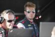 Will Power in his pit stand at Auto Club Speedway -- Photo by: Joe Skibinski