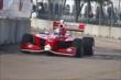 Juan Pablo Garcia enters the Turn 5 bend around the Reliant Astrodome during practice in Houston -- Photo by: Bret Kelley