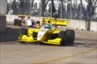 Conor Daly enters the Turn 5 bend around the Reliant Astrodome during practice in Houston -- Photo by: Bret Kelley