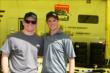 Teammates Conor Daly and Peter Dempsey in the Team Moore Racing paddock -- Photo by: Chris Jones