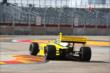 Conor Daly goes through the Turn 2 chicane during practice in Houston -- Photo by: Chris Jones