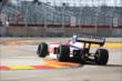 Jack Hawksworth navigates through the Turn 2 chicane during practice in Houston -- Photo by: Chris Jones