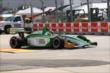 Matthew Di Leo navigates through the Turn 2 chicane during practice at Houston -- Photo by: Chris Jones