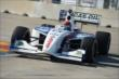 Jack Hawksworth apexes Turn 8 during practice at Houston -- Photo by: Chris Owens